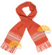 Striped Alpaca Scarf - Alpaca Carrasco - Orange - Beige - Ivory - 16773557