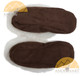 Alpaca Fur Collar Slipper - Faux Suede - Shoe Style - Brown - 72911702