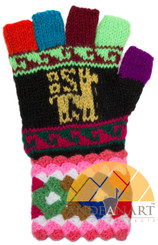 Huancavelica Fingerless Alpaca Gloves for Adults - 16783222