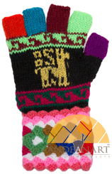 Peruvian Huancavelica Alpaca Fingerless Gloves for Children MTO 1 - 16783223
