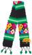 Hand Crocheted Huancavelica Alpaca Scarf for Children - Black - 16772211