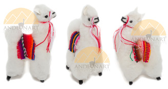 "Llama / Alpaca Fur Toy Standing 4 1/2"" - 15161652"