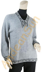 V-Neck Alpaca Sweater - 16261704