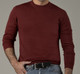100% Baby Alpaca Men's Crew Neck Sweater - AndeanSun - Burgundy