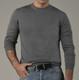 100% Baby Alpaca Men's Crew Neck Sweater - AndeanSun - Grey