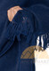 Alpaca Shawl - Alpaca Carrasco Wrap Cape Shawl Reversible with Cozy Handmade Fringe - Extra Long and Wide - Navy blue - 16853520