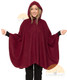 Short Hooded Alpaca Cape - Alpaca Carrasco - Burgundy - 16853525
