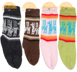 Crew Alpaca Socks with Alpaca Motif for Children - 16713402