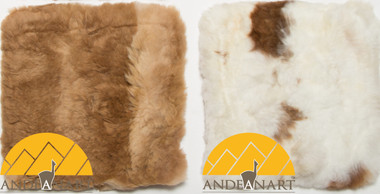"Square Alpaca Fur Pillow Cover 11"" x 11"" - Assorted Colors - 16728003"