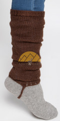 Alpaca Leg Warmers SOLID Color - Alpaca Blend - Rustic Quality - Natural Color - 16481102