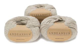 100% Baby Alpaca Skeins - Set of THREE by AndeanSun - US STOCK
