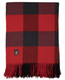 Buffalo Plaid Lap Throw Alpaca AND ACRYLIC Blend Blanket by Alpaca Carrasco - Red and Charcoal - 16893602