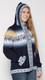 Alpaca Motif Hoodie Zip-Up Cardigan - Alpaca Sweater - Navy Blue - 16261711