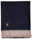 Reversible Alpaca Throw - Alpaca AND ACRYLIC Blend Blanket - by Alpaca Carrasco - Navy Blue and Beige - 16893607