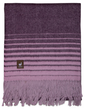 Beach Stripe Lap Alpaca Throw - Alpaca AND ACRYLIC Blend Blanket by Alpaca Carrasco - Dark Purple and Violet - 16893608