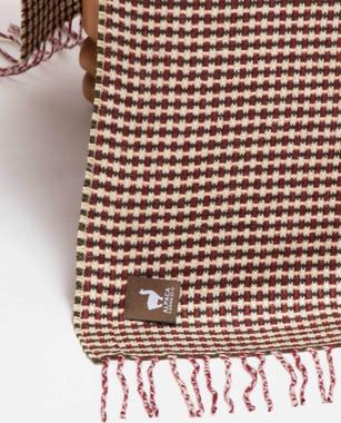 Basket Weave Alpaca Throw - Alpaca AND ACRYLIC Blend Blanket by Alpaca Carrasco - Burgundy - Hunter Green - Beige - 16893609