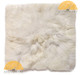 "Large Baby Alpaca Fur Pillow Cover 16"" x 16"" - White - 16728006"