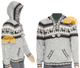 Alpaca Motif Hoodie Sweater with pockets - Alpaca Sweater - Light Grey - 16261712