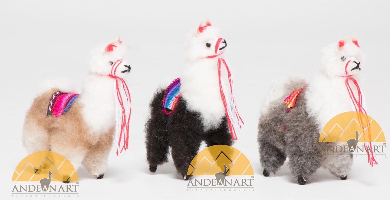 Llama Alpaca Fur Toy Standing 4 Quot Us Stock Llacta