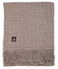 Cross Weave Alpaca Throw - Alpaca AND ACRYLIC Blend Blanket by Alpaca Carrasco - Beige Ivory Brown Combo - 16893614