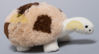 "Alpaca Fur Turtle Small 4"" tall fur to fur - Assorted Color - 15961614"