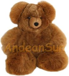 "NEW FOR 2016! Medium 14"" (fur to fur) - 11"" (hide to hide) Alpaca Teddy Bear - US STOCK"