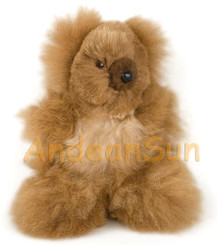 "Tiny 7"" (fur to fur) - 5.5"" (hide to hide) Alpaca Teddy Bear - Mixed Color - 15581812"