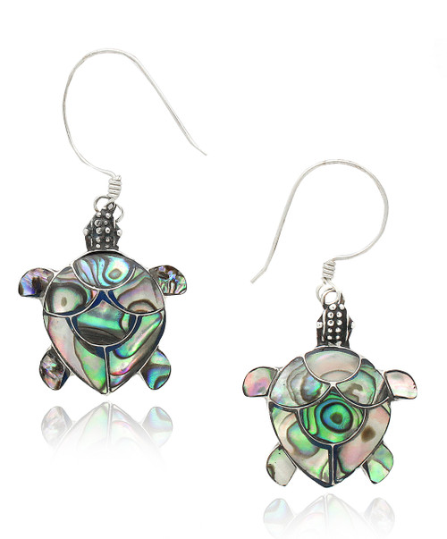 Abalone Turtle Sterling Silver Earring