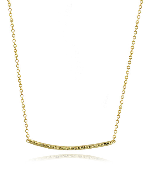 Gold Plated Bar Necklace in Brass