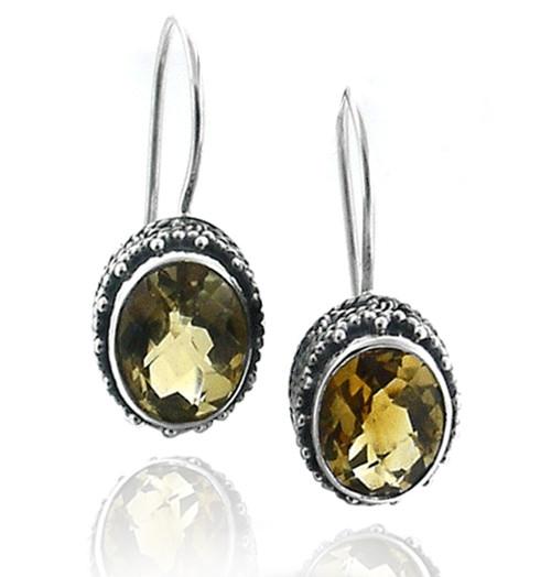 Citrine Design Earrings