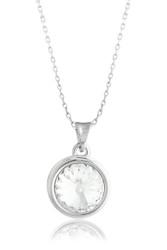 Solitaire Swarovski Crystal Necklace in Brass