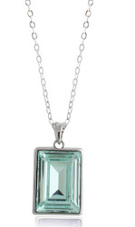Chrysolite Swarovski Crystal Necklace in Brass