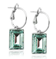 Chrysolite Swarovski Crystal Earring in Brass