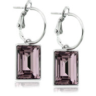 Light Amethyst Swarovski Crystal Earrings