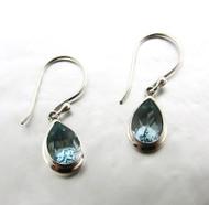 Blue topaz teardrop petite earring