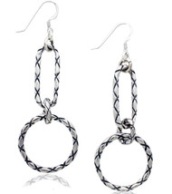 Sterling Silver Geometrical Drop Earrings