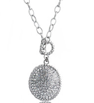 Swarovski Element Pave Oval Necklace