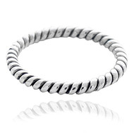 Sterling Silver .925 Cable Ring