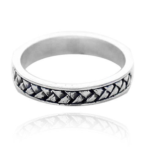 Sterling Silver .925 Textured Eternity Ring