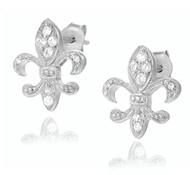 Small Fleur de Lis Stud Earrings