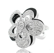 Double Flower Rotating Ring