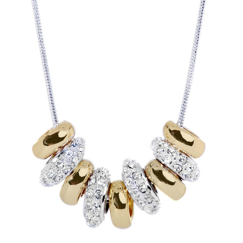 swarovski two tone necklace artune jewelry