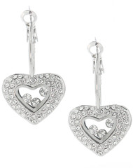 Swarovski Element Pave Heart Earrings
