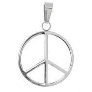 Stainless Steel Round Peace Pendant