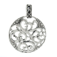 Artune Online Jewelry Sterling Silver 925 Round  Filigree Pendant