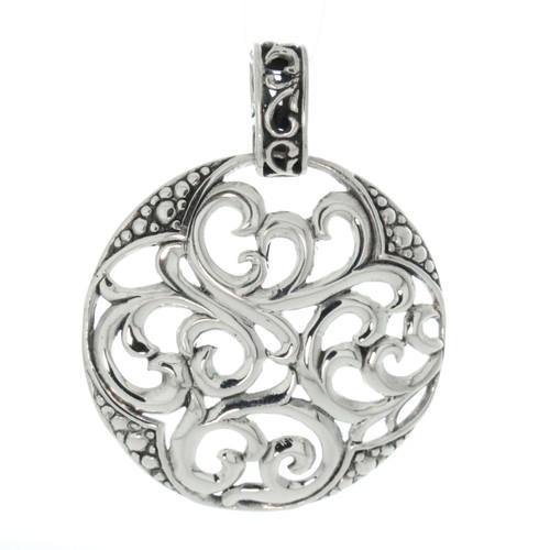 Artune Online Jewelry Sterling Silver 925 Round  Filigree Pendant