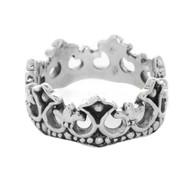 Sterling Silver 925 Crown Men's Ring