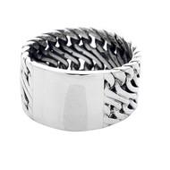 Sterling Silver 925 12mm ID  Men's Ring