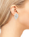 Sterling Silver .925 CZ Marquise Cluster Fancy Pave Earrings