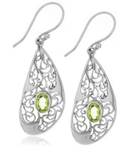 Sterling Silver .925 Filigree Bali Earrings
